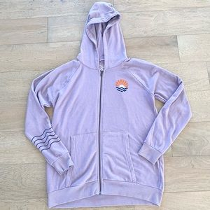 Chaser full zip hooded sweatshirt purple xl